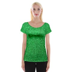 Green Glitter Cap Sleeve Tops by snowwhitegirl