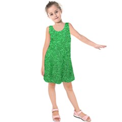 Green Glitter Kids  Sleeveless Dress by snowwhitegirl