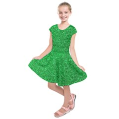 Green Glitter Kids  Short Sleeve Dress by snowwhitegirl