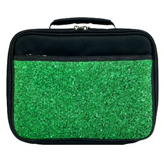 Green Glitter Lunch Bag by snowwhitegirl