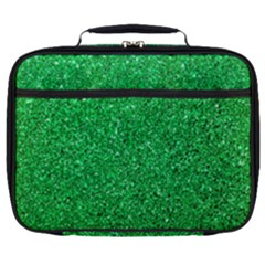 Green Glitter Full Print Lunch Bag by snowwhitegirl