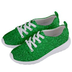 Green Glitter Women s Lightweight Sports Shoes by snowwhitegirl