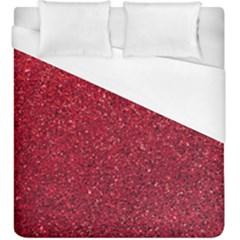 Red  Glitter Duvet Cover (king Size) by snowwhitegirl
