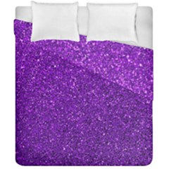 Purple  Glitter Duvet Cover Double Side (california King Size) by snowwhitegirl