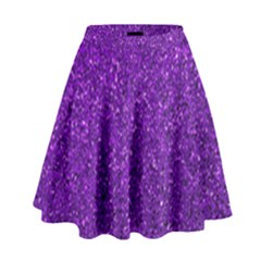 Purple  Glitter High Waist Skirt by snowwhitegirl