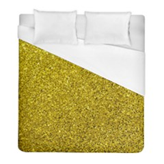 Gold  Glitter Duvet Cover (full/ Double Size) by snowwhitegirl