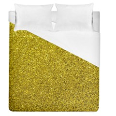 Gold  Glitter Duvet Cover (queen Size) by snowwhitegirl