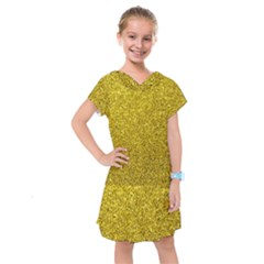 Gold  Glitter Kids  Drop Waist Dress by snowwhitegirl