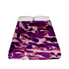 Pink Camo Fitted Sheet (full/ Double Size) by snowwhitegirl