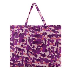 Pink Camo Zipper Large Tote Bag by snowwhitegirl