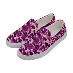 Pink Camo Women s Canvas Slip Ons by snowwhitegirl