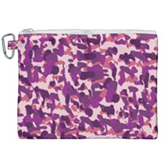 Pink Camo Canvas Cosmetic Bag (xxl) by snowwhitegirl