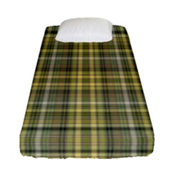 Yellow Plaid Fitted Sheet (single Size) by snowwhitegirl
