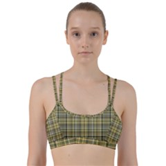 Yellow Plaid Line Them Up Sports Bra by snowwhitegirl