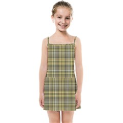 Yellow Plaid Kids Summer Sun Dress