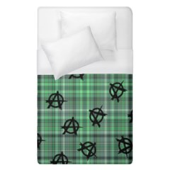 Green  Plaid Anarchy Duvet Cover (single Size) by snowwhitegirl