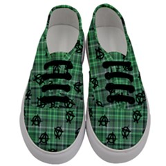 Green  Plaid Anarchy Men s Classic Low Top Sneakers