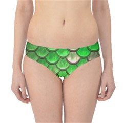 Green Mermaid Scale Hipster Bikini Bottoms by snowwhitegirl