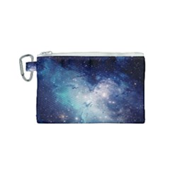 Nebula Blue Canvas Cosmetic Bag (small) by snowwhitegirl