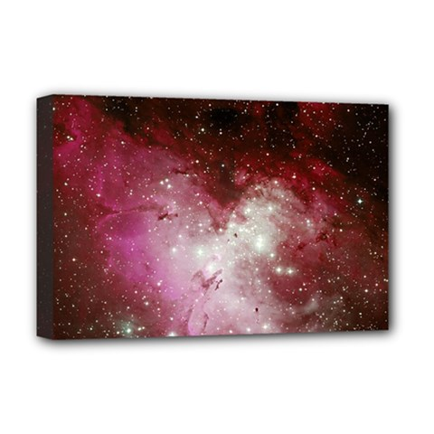 Nebula Red Deluxe Canvas 18  X 12