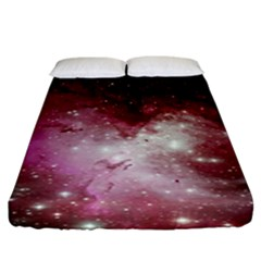 Nebula Red Fitted Sheet (king Size)