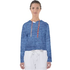 Blue Denim Women s Slouchy Sweat