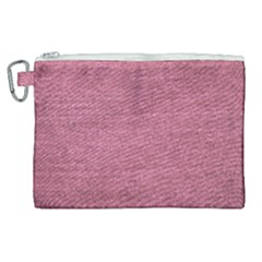 Pink  Denim Canvas Cosmetic Bag (xl) by snowwhitegirl