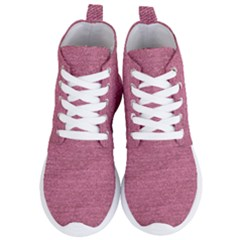 Pink  Denim Women s Lightweight High Top Sneakers