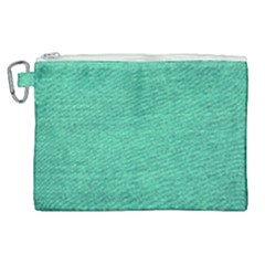Green Denim Canvas Cosmetic Bag (xl) by snowwhitegirl