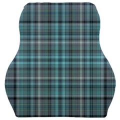 Teal Plaid Car Seat Velour Cushion  by snowwhitegirl
