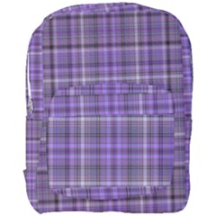 Purple  Plaid Full Print Backpack