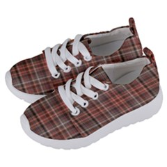 Peach  Plaid Kids  Lightweight Sports Shoes by snowwhitegirl