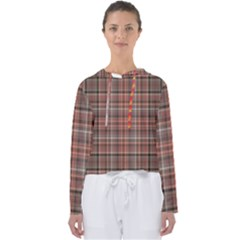 Peach  Plaid Women s Slouchy Sweat