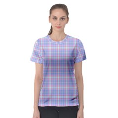 Pink Blue Plaid Women s Sport Mesh Tee by snowwhitegirl