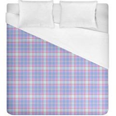 Pink Blue Plaid Duvet Cover (king Size) by snowwhitegirl
