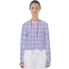 Pink Blue Plaid Women s Slouchy Sweat