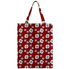 Eggs Red Zipper Classic Tote Bag