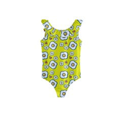 Eggs Yellow Kids  Frill Swimsuit