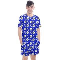 Eggs Blue Men s Mesh Tee And Shorts Set