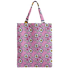 Eggs Pink Zipper Classic Tote Bag