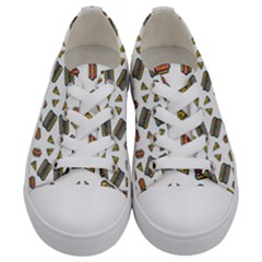 Fast Food White Kids  Low Top Canvas Sneakers
