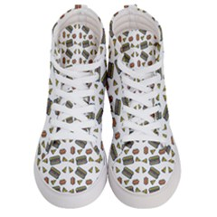 Fast Food White Women s Hi Top Skate Sneakers