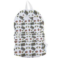 Fast Food White Foldable Lightweight Backpack