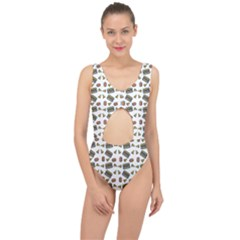 Fast Food White Center Cut Out Swimsuit
