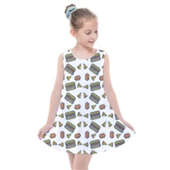 Fast Food White Kids  Summer Dress