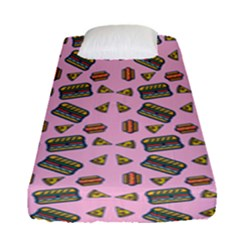 Fast Food Pink Fitted Sheet (single Size)