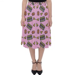 Fast Food Pink Folding Skater Skirt