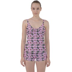 Fast Food Pink Tie Front Two Piece Tankini