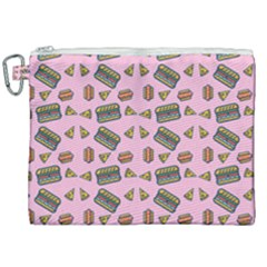 Fast Food Pink Canvas Cosmetic Bag (xxl) by snowwhitegirl