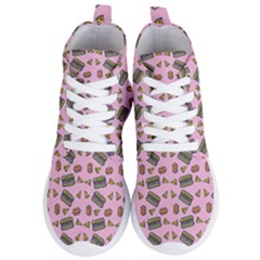 Fast Food Pink Women s Lightweight High Top Sneakers